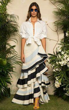 Johanna Ortiz Lombard Street Silk Skirt