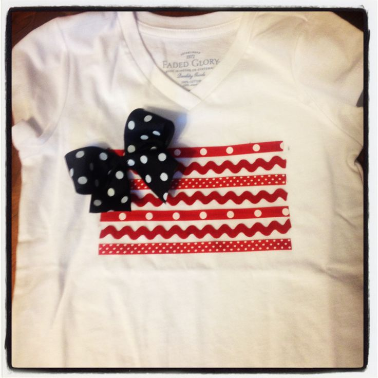 Fourth of July shirt for little girl!