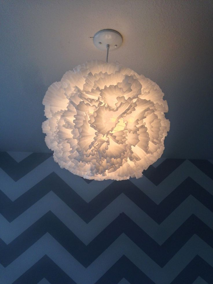 how to make a chandelier out of paper