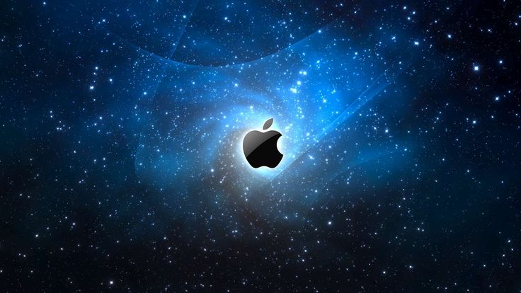 Apple Galaxy wallpaper for your iMac