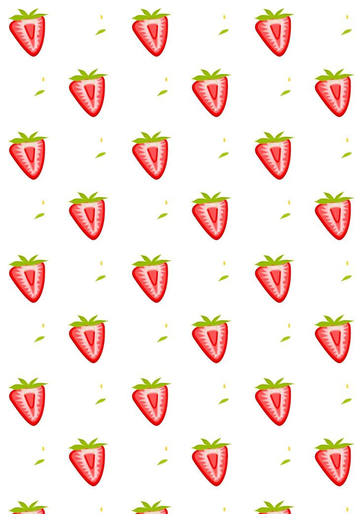 FREE printable strawberry pattern paper | #summerfruit