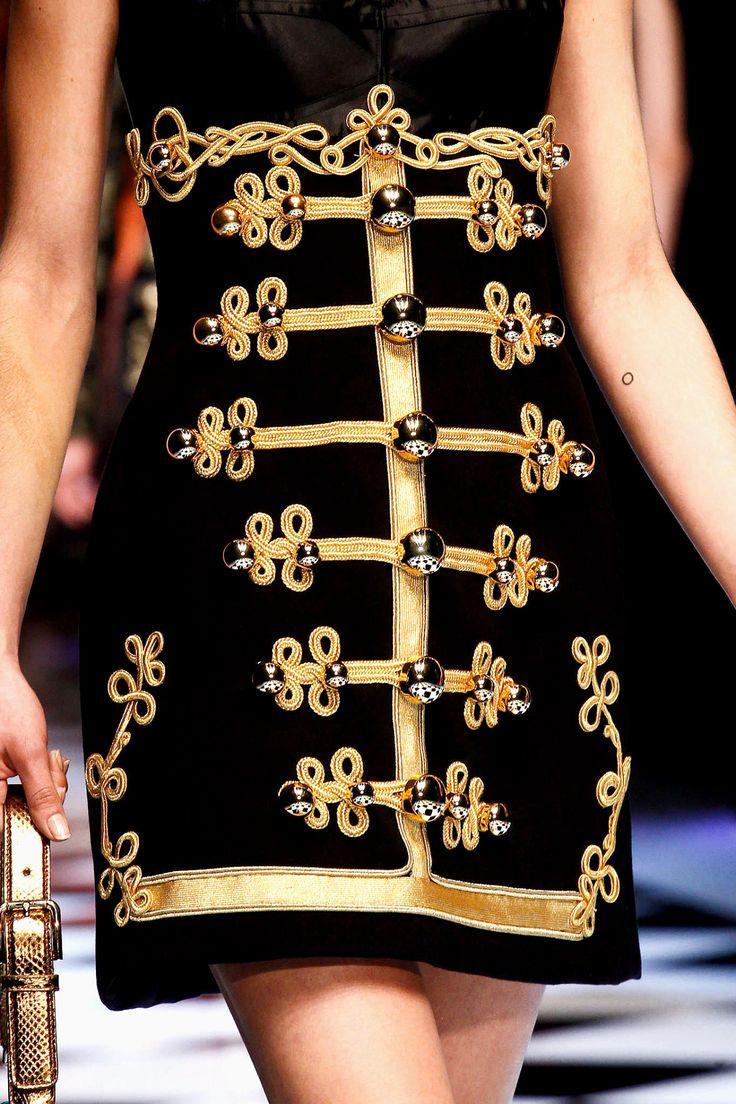 Detail at Dolce & Gabbana Fall 2016-17, Milan Fashion Week.