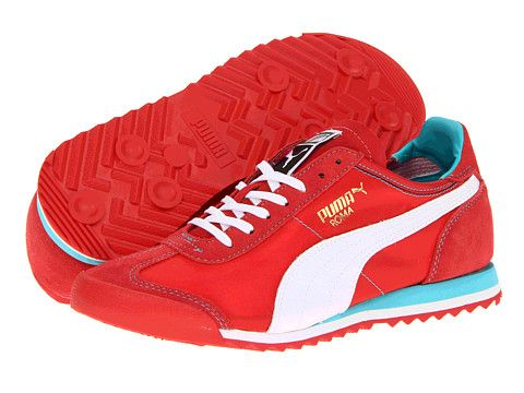 Attracts People Around With : Red Shoes:Red Athletics Shoes By Puma Designs  Men's Red Running Shoes