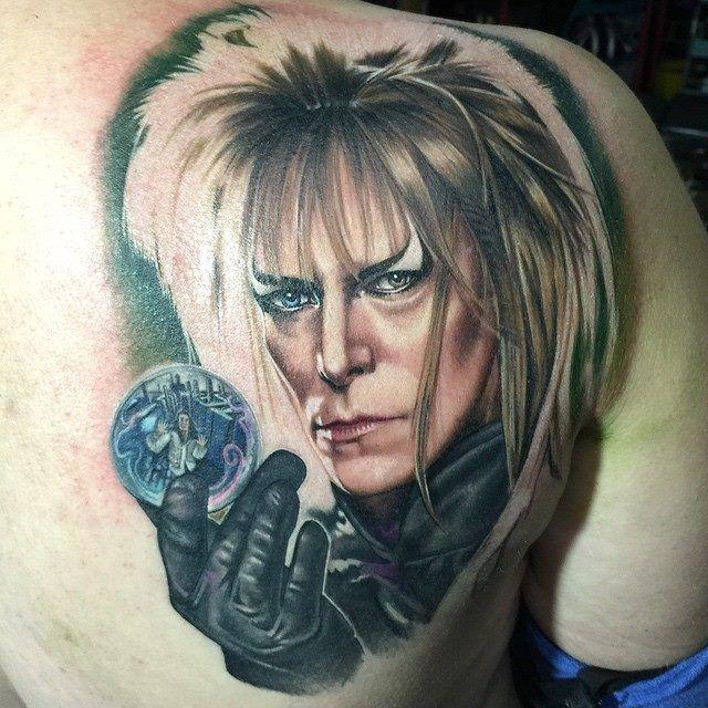 Labyrinth tattoo by Chris Jones @ Area 51 Tattoo