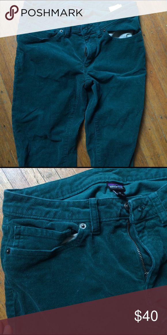Patagonia women's fitted corduroys Barely worn super comfy! Teal fitted corduroy Patagonia pants Patagonia Pants