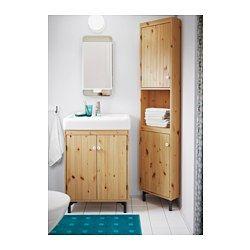 IKEA - SILVERÅN, Unitate colţ, maro des, , Lemnul masiv de pin are o textură deosebită; fiecare piesă de mobilier este unică.Poliţă reglabilă; adaptează spaţiul nevoilor tale.Uşa se poate monta cu deschiderea spre stânga sau spre dreapta.Picioare ajustabile pentru o stabilitate mai mare şi protecţie împotriva umezelii.Potrivită pentru băi mici.