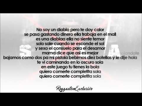 Anuel AA - Sola (Video Letra) | Reggaeton 2016 - YouTube