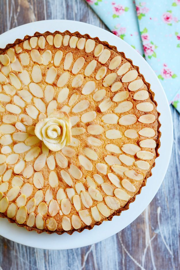 Italian Almond Tart....Ingredients :   115g butter, at room temperature, 225g almond paste, cut into 1 inch cubes recipe, 55g caster sugar, 2 large eggs, 50g plain flour, 300g raspberry, plum or cherry jam, and 50g sliced almonds...Get the instructions here...Gorgeous tart and happy baking.