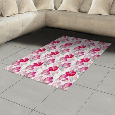 East Urban Home Pink Area Rug