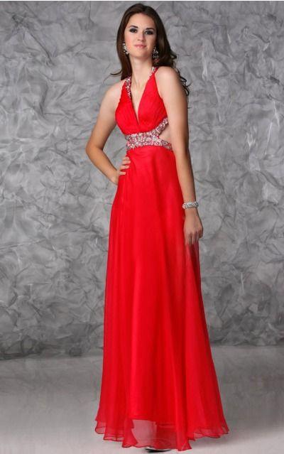 Chiffon Halter Natural A-line Floor-length Bridesmaid Dresses 0190420