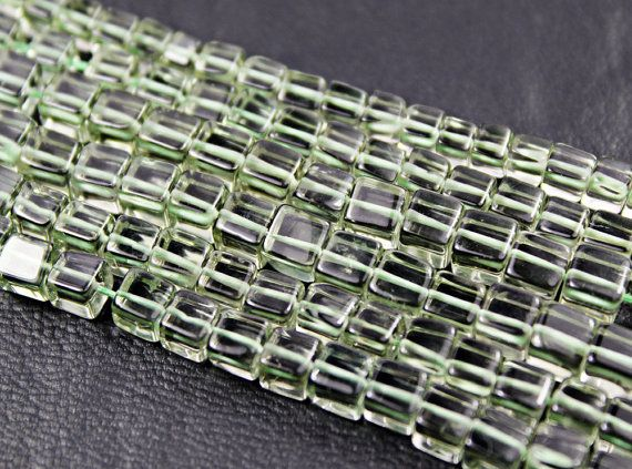 Green Amethyst Smooth Box Beads by jewelsexports, $23.63