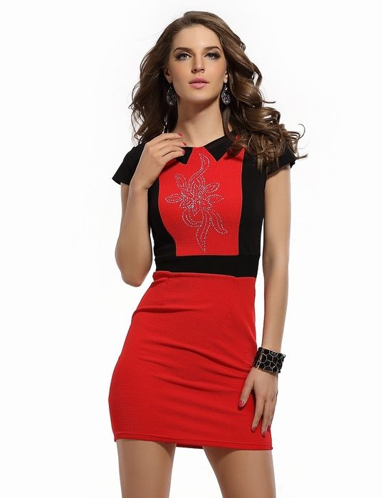 Top Fashion  Short Sleeves Mini Bandage Dress For Ladies  Red Summer Office Dress - http://www.aliexpress.com/item/Top-Fashion-Short-Sleeves-Mini-Bandage-Dress-For-Ladies-Red-Summer-Office-Dress/32364541390.html