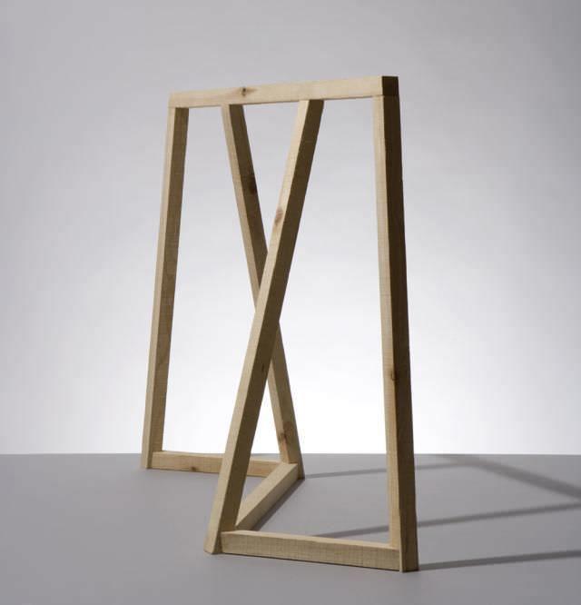 pied de table en bois 1 x 1 studiomama design contemporain meubles