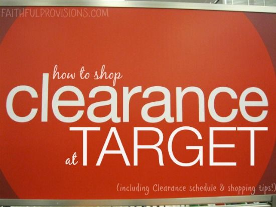 "Save BIG on clearance items at Target when you know how to ""read the red stickers"".  Plus, this Target Markdown Schedule lets you know when your favorite items will be marked down.  