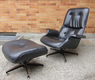 1960's lounge chair and ottoman