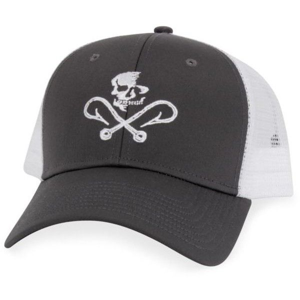 salt life baseball hat graphite skull and hooks mesh featuring
