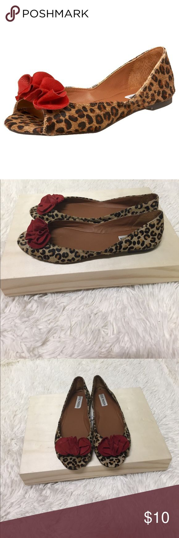 Steve Madden Floralel Leopard Ballet Flats Sz 8.5 Steve Madden Floralel Leopard Pony Hair Ballet Flats Size 8.5. The do have some wear on the inside and back of left shoe. Steve Madden Shoes Flats & Loafers