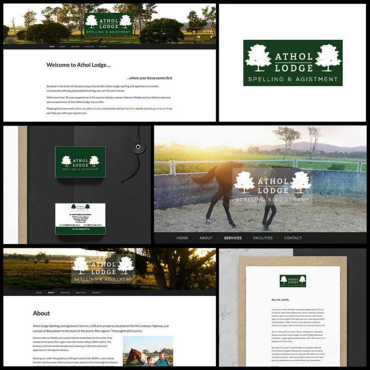 Brand identity, stationery and web design project for Athol Lodge Spelling & Agistment