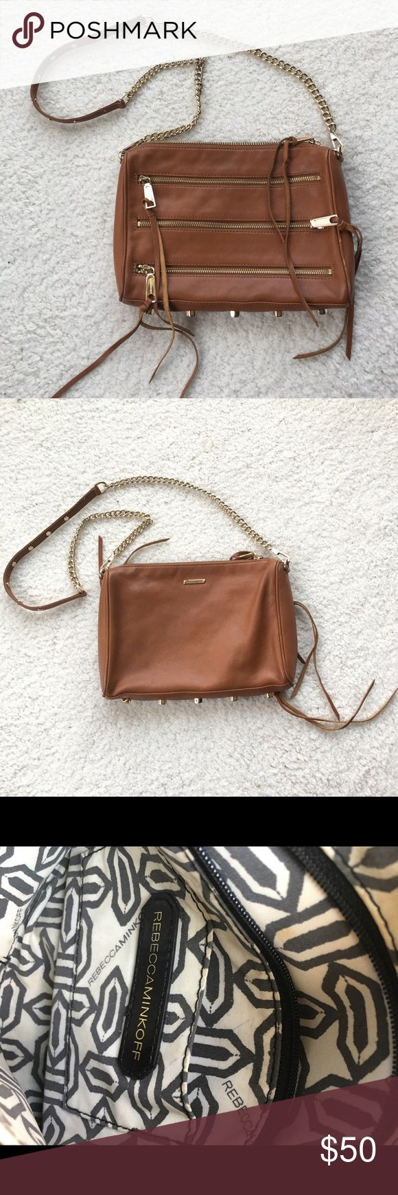 Rebecca minkoff 5 zip purse Small scratches on rim of bag and a few makeup spots on the inside Rebecca Minkoff Bags Crossbody Bags
