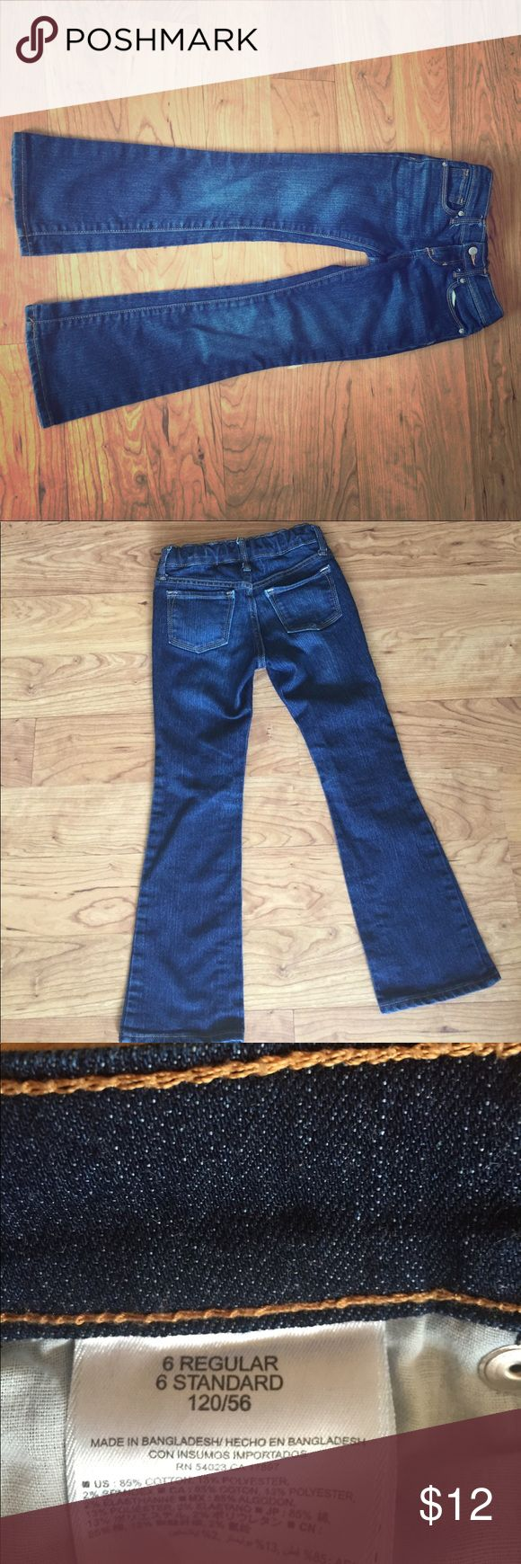 Girls boot cut Old Navy Jeans Old Navy boot cut jeans.  Washed and worn once.  Dark denim blue. Old Navy Bottoms Jeans