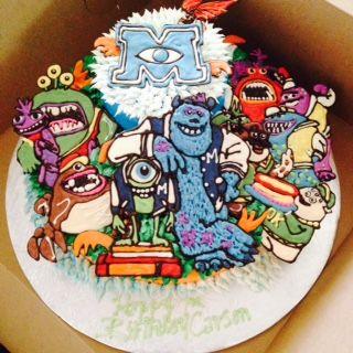 Monster's Inc / Monster's University Birthday Cake