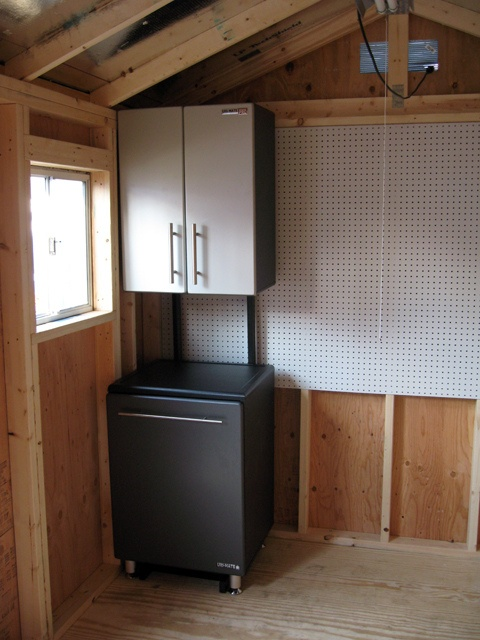 Interior Cabinets Pegboard Window By Tuff Shed Storage Buildings Garages Via Flickr Sheds