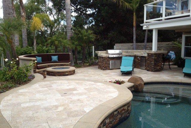 S Photos Pool Spa And Backyard Remodel Baja Shelf Paving Firepit Outdoor Kitchen Bbq Mediterranean Pool Orange County