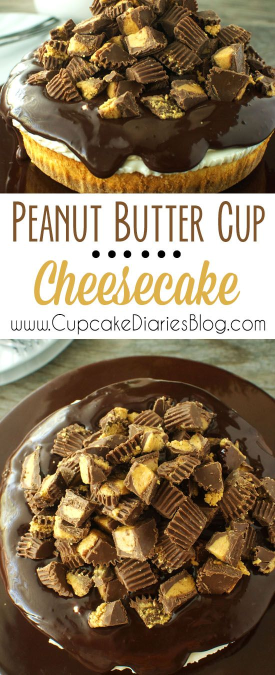 Peanut Butter Cup Cheesecake - @coolwhip @saraleedesserts #MomsDayTreats #ad