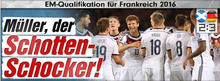 DE vs Schottland 3:2. Müller, der Schotten-Schocker - Fussball - 2 goals and 1 assist by astro #snake Müller ;-D - Astro #snake #Mueller @esmuellert_, der #Schotten-#Schocker lol - #GER won vs #Scotland 3:2;D http://sportdaten.bild.de/sportdaten/uebersicht/sp1/fussball/co1172/em-qualifikation/#sp1,co1172,se15204,ro46131,md0,gm8,ma2200594,pe0,to0,te0,ho14019,aw479,rl0,na4,nb2,nc1,nd1,ne1,jt0…