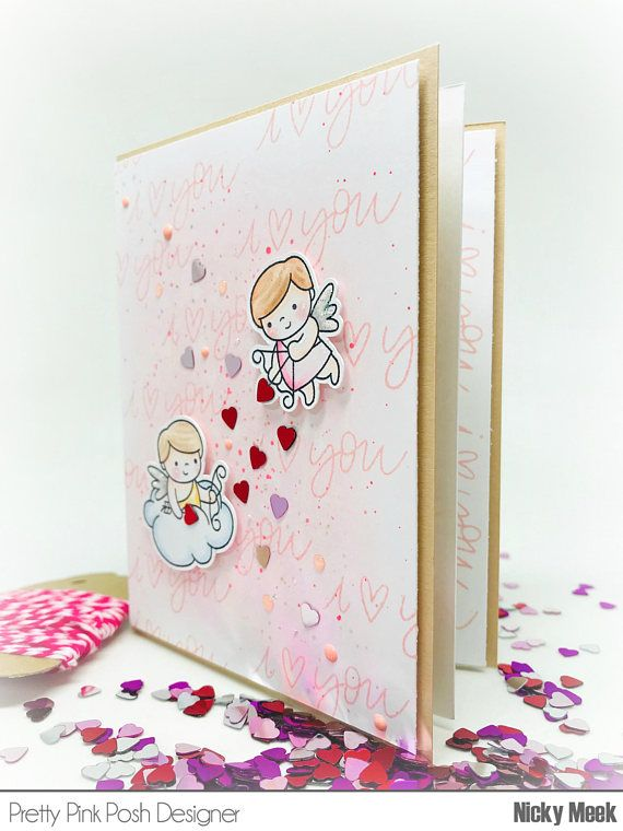 Cupid Friends - Pretty Pink Posh.  Card by Nicky Noo Cards #nickynoocards