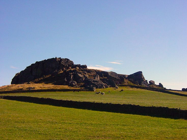 Approaching Almscliff Crag