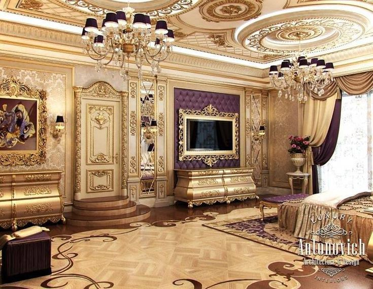 Classic European Luxury Master Bedroom Design Ideas With Excellent  Chandelier And High Ceiling