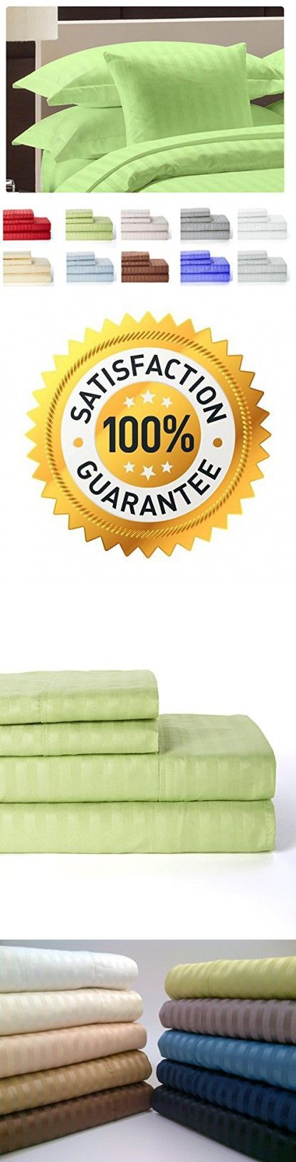 4 Piece: Hotel Luxury Bed Sheets Set,Lux Decor Sheet - Flat Sheet   Fitted Sheet   2 Pillow Cases, Brushed Microfiber 1800 Bedding - Wrinkle, Fade, Stain Resistant - Hypoallergenic(Queen, Green Sage)