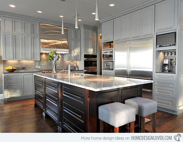 1000 Ideas About Grey Kitchen Designs On Pinterest