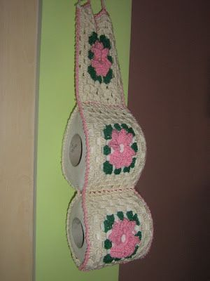 porta rollo de papel a crochet   este lindo porta rollo