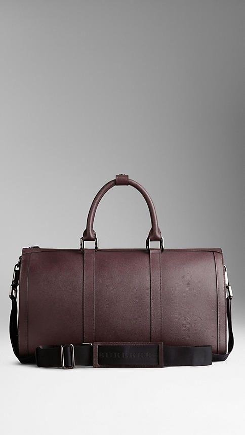 Medium London Leather Holdall   Burberry