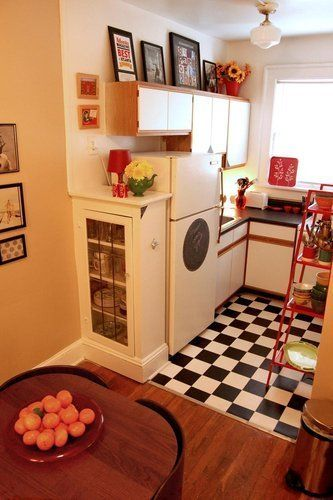 20 small kitchens-Super cute!~: Living Rooms Design, Interiors Design Kitchens, Tiny Kitchens, Kitchens Ideas, Small Kitchens Design, Kitchens Living Rooms, Small Spaces, Modern Kitchens, Decor Living Rooms