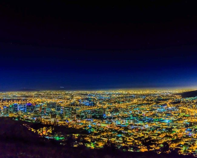 Night Skyline, Cape Town, South Africa