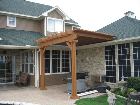 pergola off the back of the house | For the home ...