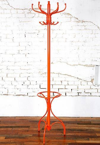 orange coat rack?