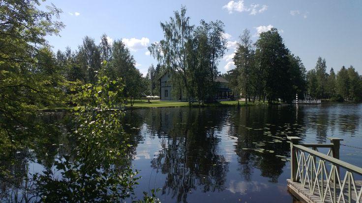 Taidekeskus Salmela, näkymä järvelle