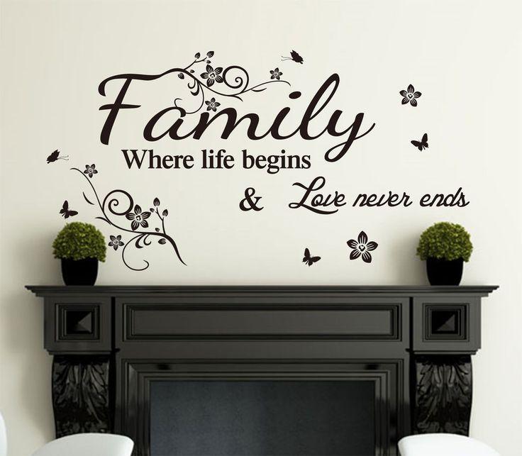 Vinyl Wall Art Quotes Family : Family inspirational wall art quotes vinyl sticker