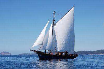 """Galeón """"Ave de Paso"""". Museo Massó organiza unhas singraduras didácticas pola ría de Pontevedra a bordo do galeón Ave de Paso. O obxectivo é ofrecer a experiencia da navegación a vela nun barco tradicional e a difusión das técnicas e coñecementos asociados a estes barcos."""