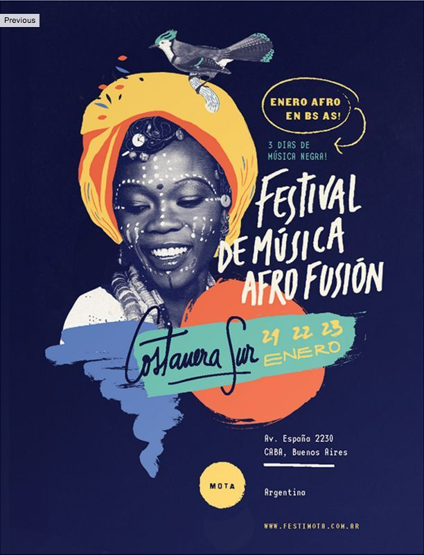 #01 AFRO FUSION FESTIVAL Graphic Design | Illustration | Typography diagramação assimétrica