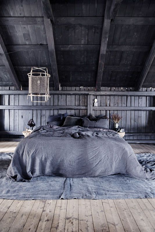Rustic Bedroom Loft At The Milla Farm In Aurskog Norway Home Of Interior