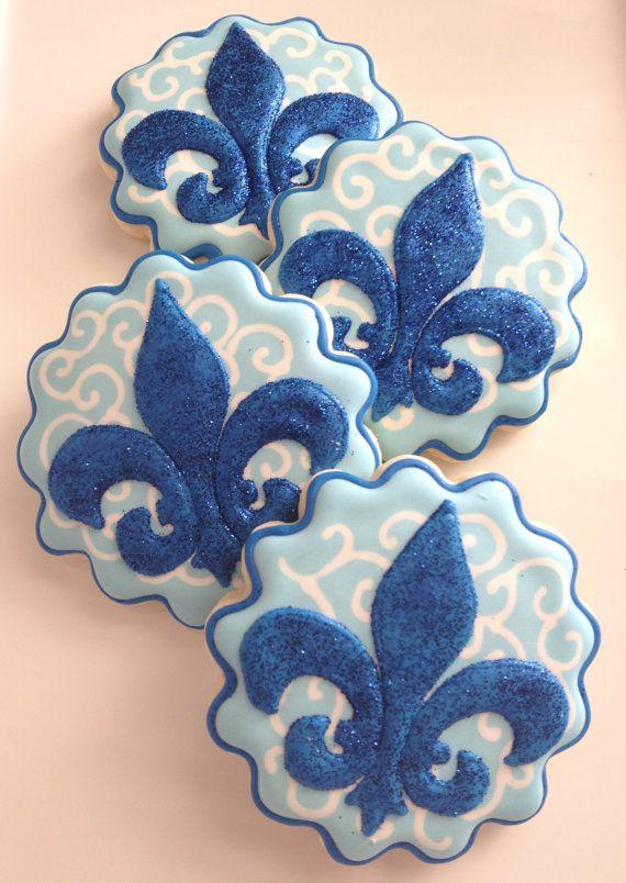 1 Dozen Fleur de Lis Cookies via Etsy