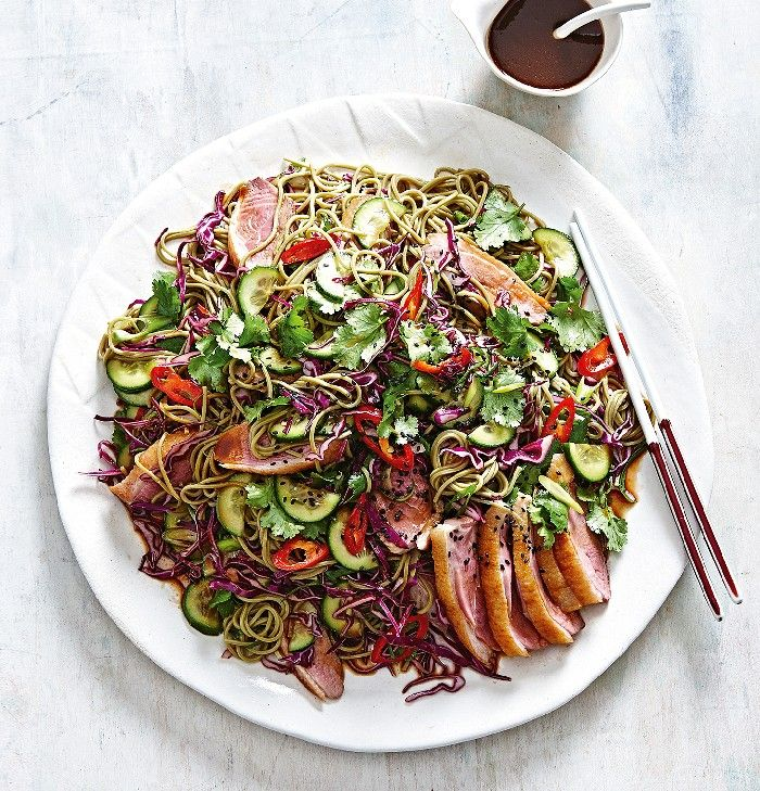 Duck Noodle Salad with White Miso Dressing | MiNDFOOD