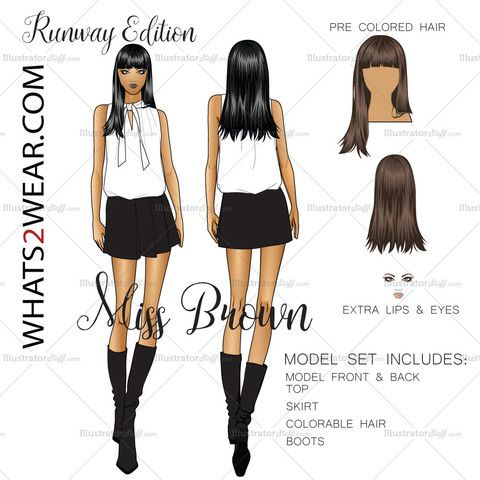 how to draw a runway model