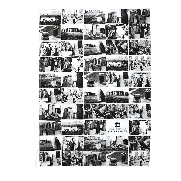Featuring a black and white photographic montage of Stonehenge, this high quality, British-made tea towel features 49 images of Stonehenge taken from various perspectives, this distinctive tea towel provides a visual history of Stonehenge and makes a great memento or gift. View online: http://www.english-heritageshop.org.uk/homewares/stonehenge-black-and-white-photo-negatives-tea-towel