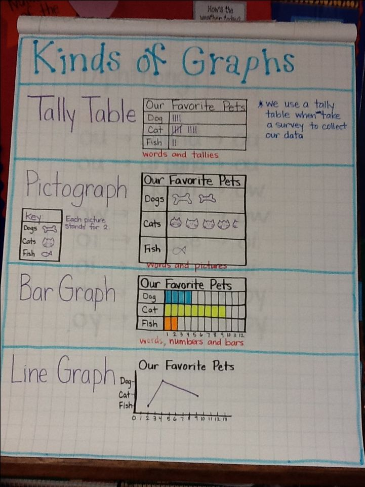 Ms. Brown's graph types anchor chart/poster!!